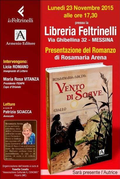"""Presentazione del testo il """"Vento di soave"""" di Rosamaria Arena"""