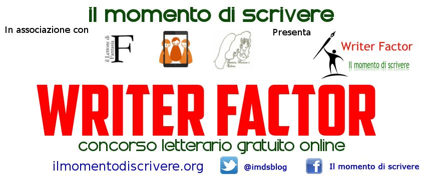 Evento: Writer Factor: concorso letterario gratuito online