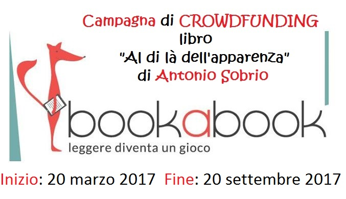 "Evento: Campagna crowdfunding libro ""Al di là dell'apparenza"" su www.bookabook.it"